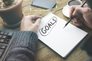 goals on notebook Katherine Moller - Persistence